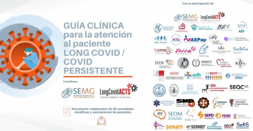 COVID persistente.- 48 sociedades científicas y asociaciones de pacientes consensúan una Guía Clínica de atención a pacientes
