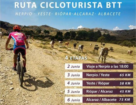 La ruta cicloturista de BTT Nerpio-Alcaraz-Albacete se celebrará del 3 al 6 de junio de la mano de la Diputación