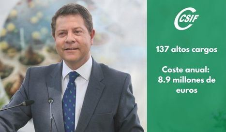 El Gobierno de García-Page prácticamente duplica el número de altos cargos de la Junta desde 2017 con un coste de 8.9 millones al año