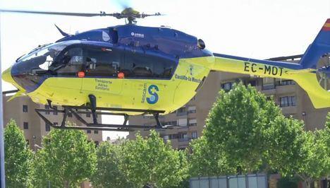 Sucesos.- Trasladan al hospital de Albacete a una niña de 17 meses hallada sumergida en una piscina de Tus