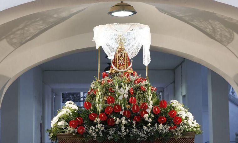 La Virgen de Los Llanos ya está en el Recinto Ferial de Albacete