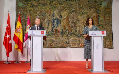 Blanca Fernández y Sergio Gutiérrez arropan a Page tras su réplica a Ayuso sobre la falsa agresión homófoba de Malasaña