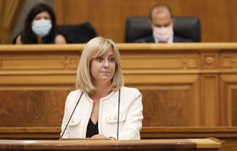 Foto: La portavoz del PSOE en las Cortes regionales, Isabel Abengózar.