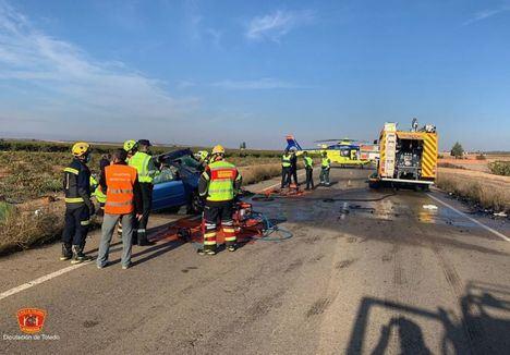 Sucesos.- Tres fallecidos y tres heridos tras la colisión frontal entre un turismo y una furgoneta