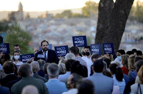 Centenares de simpatizantes arropan a Núñez en la presentación de su candidatura para renovar su liderazgo en el PP Castilla-La Mancha