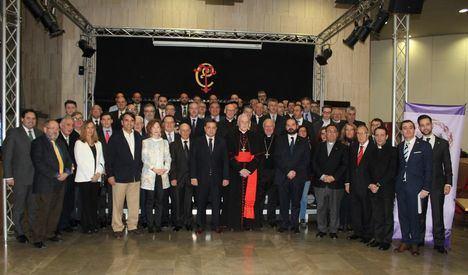El cardenal arzobispo emérito de Sevilla, Monseñor Carlos Amigo, pregonó la Semana Santa de Albacete 2018