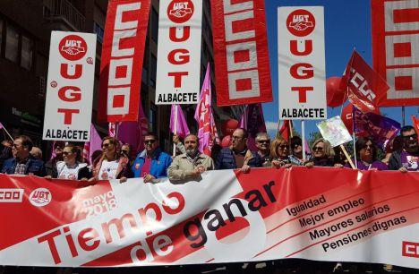 Mujeres y pensionistas, centro de las reivindicaciones del Primero de Mayo en Castilla-La Mancha