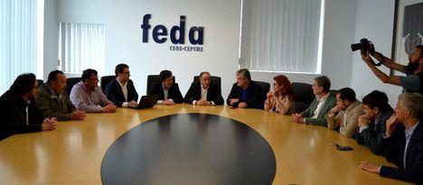 El PSOE y FEDA analizan el proyecto para la instalación de una plataforma logística en Albacete