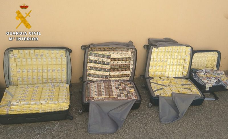La Guardia Civil de Albacete aprehende 2.644 cajetillas de tabaco careciendo de la precinta reglamentaria