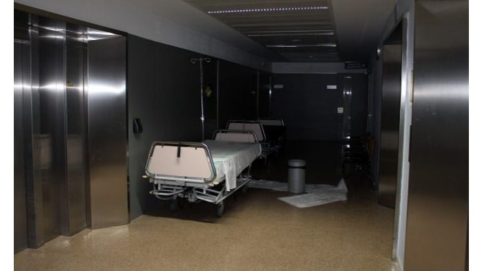 Desalojada la tercera planta del Hospital de Hellín por una impresionante tromba de agua