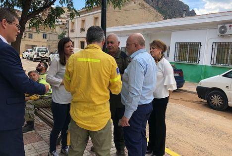 El Gobierno regional agradece la labor del dispositivo humano y técnico desplegado en la Sierra del Segura por las lluvias