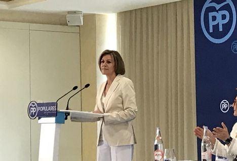 Cospedal anuncia que optará a liderar el PP: 'Me presento para ganar, ganar y ganar'