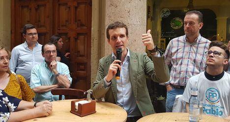 Pablo Casado pide en Albacete que 'haya libertad' y que ningún candidato hable en nombre de una comunidad o una provincia