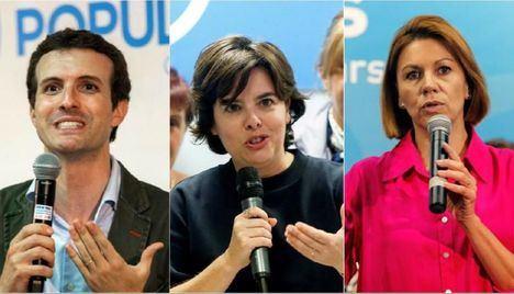 Santamaría ganadora de las primarias del PP con unos 1.600 votos de diferencia sobre Pablo Casado. Cospedal, gran derrotada