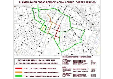 La primera fase de las obras del proceso de peatonalización del centro terminarán la próxima semana con el asfaltado de las calles