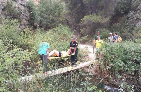 Protección Civil de Nerpio rescata a una turista en la Ruta del Zarzalar