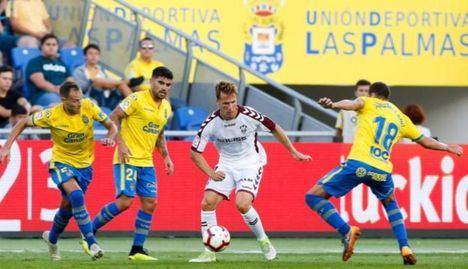 1-1. Albacete - Las Palmas justo reparto de puntos en un choque trepidante