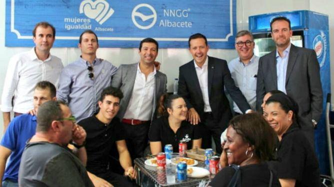 Carlos Velázquez se reúne con militantes del PP de Albacete acompañado del exconsejero Marcial Marín