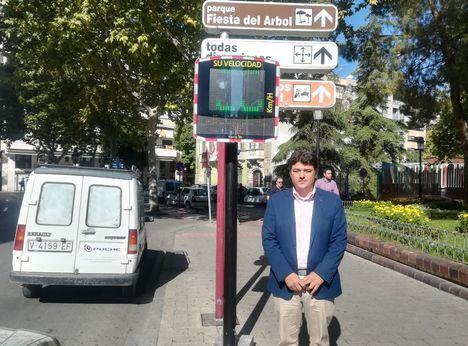 Nueve radares informativos controlarán la velocidad en Albacete con el objetivo de circular a 30 km/h antes de 2019