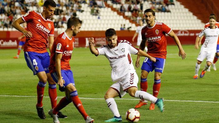 2-2. El Albacete deja escapar dos puntos de oro tras una magnífica primera partre ante el Zaragoza