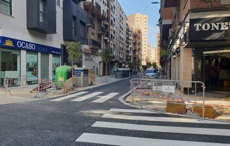 Así está el estado de las calles cortadas al tráfico en el centro de Albacete