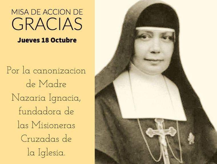 Hoy misa acción de gracias por la canonización de Madre Nazaria Ignacia,en la Catedral de Albacete a las 20 horas