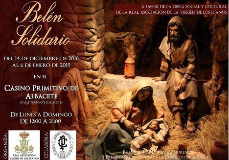 La Real Asociación de la Virgen de Los Llanos inaugura su Belén benéfico este viernes en Albacete