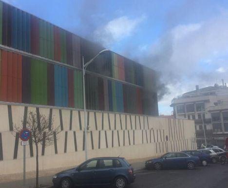 Extinguido el incendio declarado en la sala de telecomunicaciones de la Comisaría de Albacete