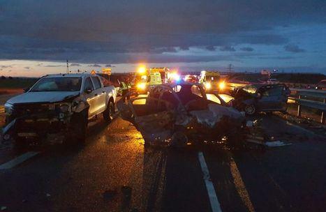 Un fallecido y cuatro heridos tras la colisión de tres vehículos en Albacete