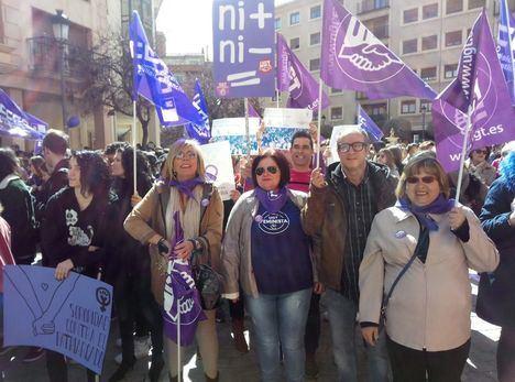 Las concentraciones feministas reúnen a miles de personas en Castilla-La Mancha
