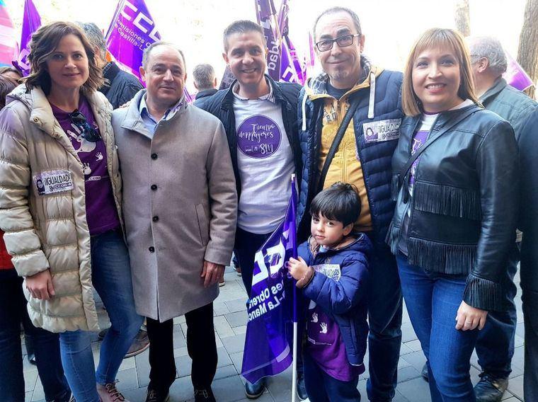 El PSOE de Albacete se suma a la concentracíon convocada por UGT y CC.OO con motivo del Día Internacional de la Mujer