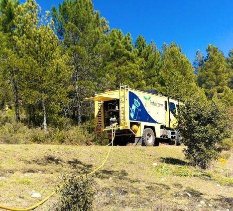 Incendio: La UME se incorporará a primera hora del domingo a los trabajos de extinción en Paterna del Madera