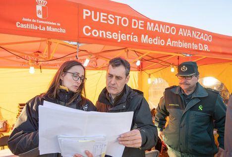 Siete medios aéreos y 28 terrestres siguen trabajando en el control del fuego de Paterna del Madera