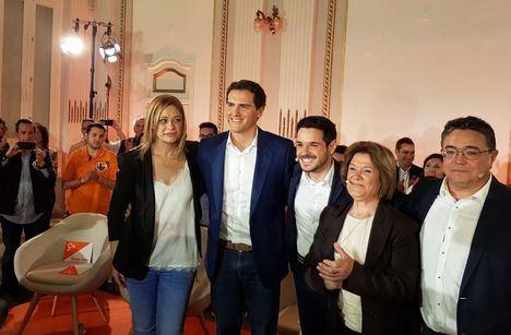 El líder de Ciudadanos y candidato a la Presidencia del Gobierno, Albert Rivera, en Albacete