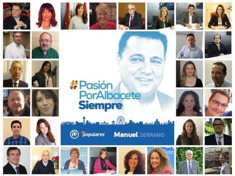 """Manuel Serrano dice que la candidatura que le acompañará a las municipales """"son hombres y mujeres comprometidos con Albacete"""