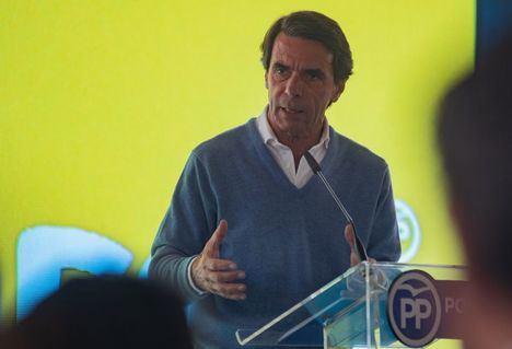 Aznar participará este miércoles en un acto público del PP en el Casino Primitivo de Albacete