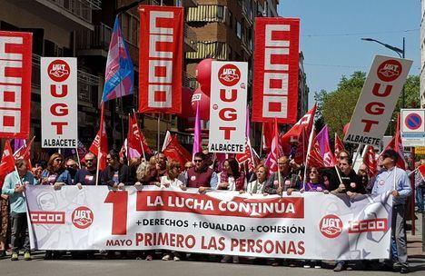 Miles de 'personas' exigen más derechos e igualdad en Primero de Mayo en Castilla-La Mancha