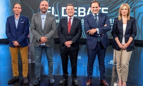El debate de los cinco candidatos a la Presidencia de Castilla La Mancha, en diez frases