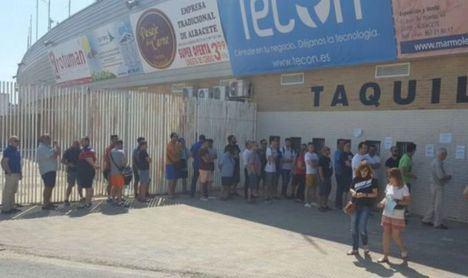 Venta y devolución de entradas para el partido Albacete- Málaga