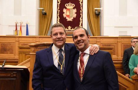El presidente de las Cortes, Pablo Bellido, propone a García-Page como candidato a la Presidencia de la Junta