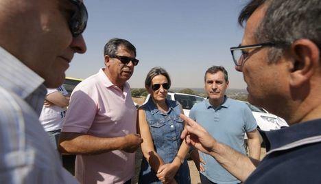 El Delegado del Gobierno de Castilla-La Mancha destaca la mejoría del incendio en Toledo por el