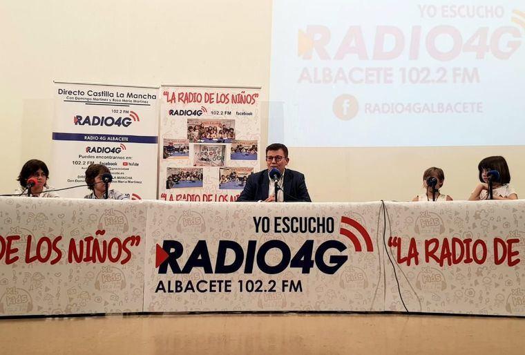 """El Gobierno regional participa en el programa radiofónico """"La Radio de los Niños"""" organizado por el medio de comunicación """"Radio 4G Albacete"""""""
