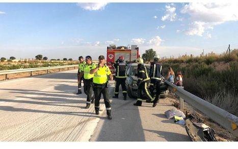 Varios heridos en un accidente múltiple, de 4 coches y 2 camiones, en La Roda