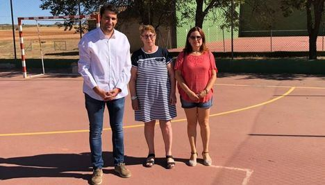 Daniel Sancha conoce en primera personas las necesidades deportivas de Corral Rubio dentro de su ronda de visitas