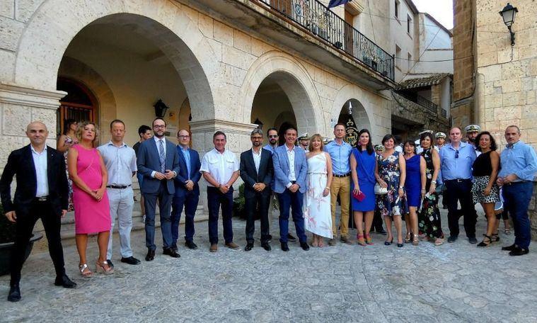 El presidente de la Diputación de Albacete visita Alcalá del Júcar con motivo de las Fiestas patronales