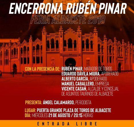 Presentación de la 'encerrona' del torero Rubén Pinar en Albacete