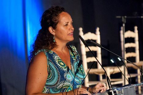 La concejal de Cultura agradeció al público del Patio Flamenco su asistencia y colaboración con la AECC