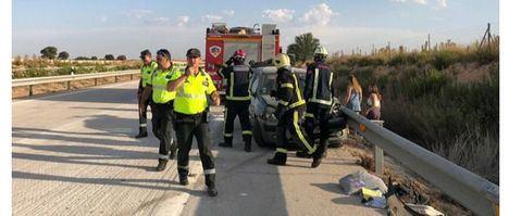 Una persona fallecida en un accidente en el que Interviene el SEPEI en la carretera de Casas Ibáñez