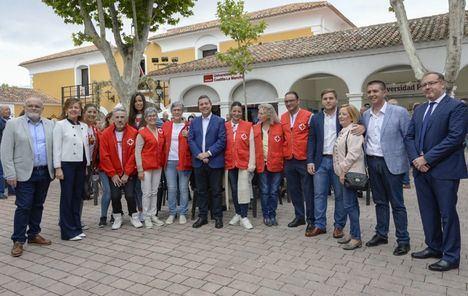 Visita del presidente Emiliano García-Page a las entidades sociales en la Feria de Albacete