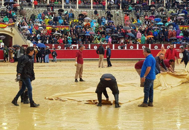 Suspendida la corrida de toros de Albacete por la lluvia